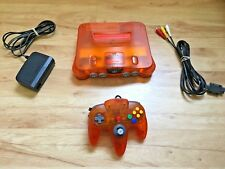 Fire Orange Funtastic Color Nintendo 64 N64 Console System Tested Working