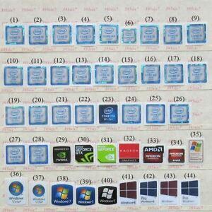 intel Core i3 i5 i7 Sticker (6th 7th 8th 9th Gen) OS sticker Graphics Sticker