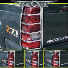 2003-2006 Silverado(not stepside) Chrome Tail Light Bezel Cover TailLight Lamp