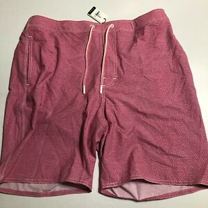 Mens Johnnie-O Size XL Primrose Crossbow Board Short Swim Trunks $89 Pink