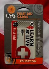FIRST AID CARDS pocket guide learn&live emergency disaster tactical UST bugout