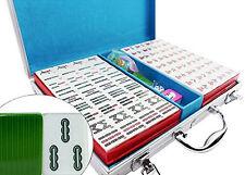 Green Melamine Chinese Numbered Tiles Mahjong Set. Game set / Gift  US Seller