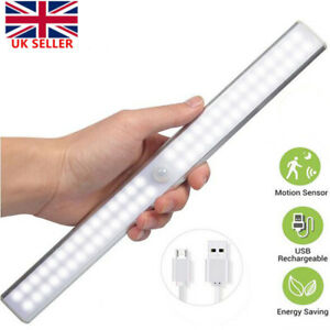 Rechargeable LED Under Cabinet Lights USB Motion Sensor Kitchen Cupboard Lamp