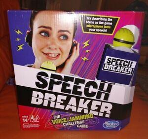 SPEECH BREAKER VOICE JAMMING CHALLENGE GAME NEW HASBRO 2017 FAMILY FUN TIME GAME