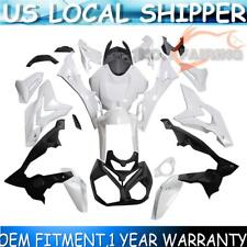 US 2014-2017 S1000R For BMW Unpainted Fairing Kit Pre-drilled ABS Frame White