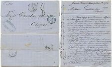 MARTINIQUE 1878 PACKET ANGLAISE Maritime Cover + LETTER