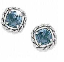 NWT Brighton YTC JOYFUL Denim Blue Swarovski Crystal Post Earrings MSRP $42