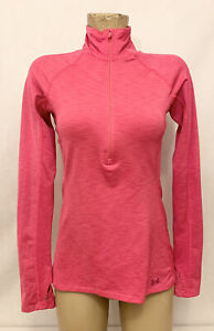 """Under Armour Pink Jacket Size S Small 17"""" Long Sleeves 1/2 Zipper Fitted Stretch"""