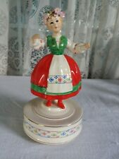 Schmid German Girl figurine music box Laura's Theme