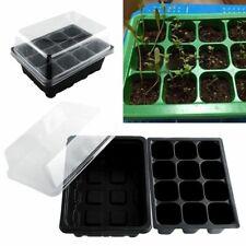 Plastic Flower Plant Grow Seedling Pots Box Tray Holder Nursery Garden Supplies