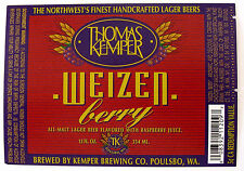 Kemper Brewing Co THOMAS KEMPER WEIZEN BERRY  label WA 12oz