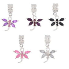 10Pcs BD Mixed Dragonfly Dangle Beads Fit Charm Bracelet