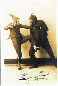 Kunstpostkarte - Hamburg 1922  - Künstlerfest - Zwei kostümierte Gestalten