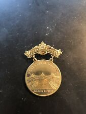 Antique St Louis Souvenir Pin Medal 1904 Cascade Gardens Palace of Liberal Arts
