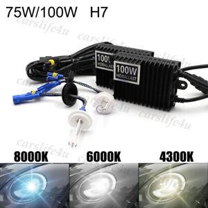 75W 100W H7 HID Conversion Kit Xenon Replacement Bulb AC Ballast Headlight Lamp