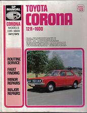 Toyota Corona 12r-1600 1971-1972models hágalo usted mismo Sp Manual De Taller