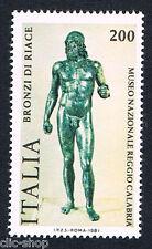 ITALIA 1 FRANCOBOLLO BRONZI DI RIACE 1981 nuovo**