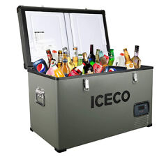 76Qt Single Zone Portable Refrigerator Camping Chest Freezer Secop Compressor
