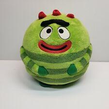 "Ty Yo Gabba Gabba Brobee Plush Stuffed Ball 7"" Green Red RARE"