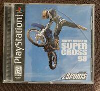 Jeremy McGrath Supercross '98 (Sony PlayStation 1, 1998) CIB