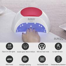 SUN2C-sunuv 48 Вт светодиодная УФ-лампа для ногтей с 3 таймера, сеньор для гель ногти Великобритания