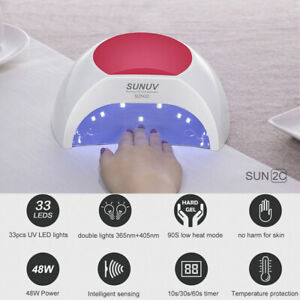 SUNUV SUN2C 48W LED UV nail Lamp with 3 Timer Setting,Senor For Gel Nails UK