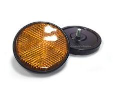 2X Yamaha RD250/350/400 TX750/500/650/ XS650/500 Frame Reflectors Amber