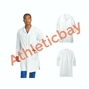 New WonderWink Scrubs Men's Long White Professional Lab Coat with Pockets