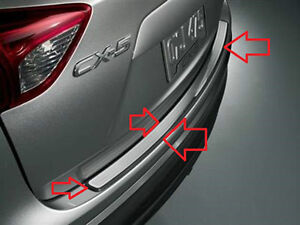 Mazda CX-5 Rear Black  Stainless Steel Bumper Step Plate  2013 2014 2015 2016