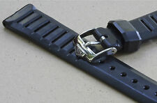 Swiss Tropic 18mm dive band with Heuer buckle Tropic vintage strap slotted