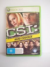 """XBOX 360 Game - CSI Hard Evidence - Rated M"""" Great Condition! Bargain Price!"""