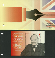 Jersey 2015 MNH Victory & Liberation 1v M/S Pres Pack Churchill WWII Stamps