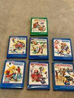 LOT(7)Mattel Intellivision Video Game Cartridge Boxing,Golf,NBA,NFL,MLB,COMPLETE