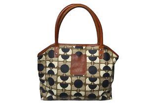 Orla Kiely Betty Bag Flower Square Print  Multicolor Tote Handbag
