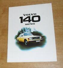 Volvo 140 Series Brochure 1974 - 144 145 De Luxe 144 Grand De Luxe - B20 Engine