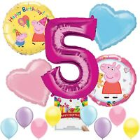 Peppa Pig Party Supplies Balloon Decoration Bundle for 5th Birthday