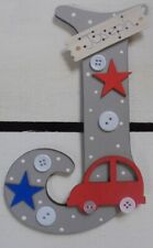Car Personalised *ANY LETTER & NAME* children kids Room Door Sign Plaque GREY