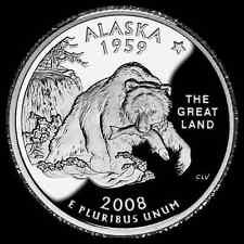 Stati Uniti  serie State Quarter   2008 Alaska   zecca Philadelphia
