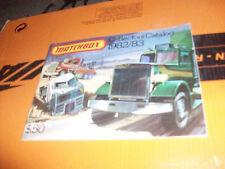 Matchbox 1982/83 1982 1983 Collectors Book Vintage Promo Brochure Catalog