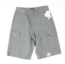 Vans Youth Boys Streamer Cargo Shorts Grey 12 New