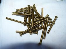 4  BA   Brass Countersunk  Head Screws - Slotted   - 1 1/2  INCHES