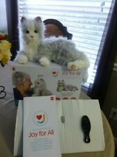 """New listing Ageless Innovation """"Joy For All"""" Life Like Companion Silver Cat New"""