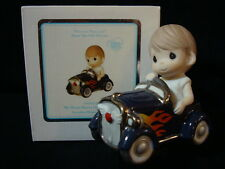 zl Precious Moments-Boy/Hot Rod Race Car-My Heart Races Only For You-VERY RARE!!