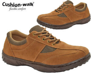Mens Lightweight Comfy Shoes Cushion Walk Lace Up Walking Driving Shoes Trainer