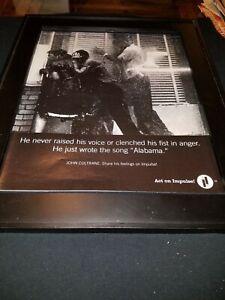 John Coltrane Alabama Rare Original Promo Poster Ad Framed!