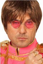 Hippie Brille John Lennon pink NEU - Zubehör Accessoire Karneval Fasching