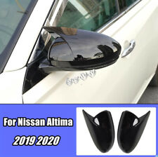 Glossy black For Nissan Altima 2019 2020 Side Door Mirror Cover molding Trim 2X