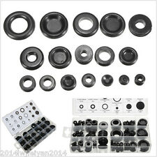 125pc Black Rubber Grommet Assortment Set Firewall Wiring Electrical Wire Gasket