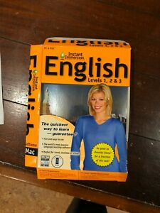 Learn How To Speak English With Instant Immersion Levels 1-3 DAMAGED Retail Box