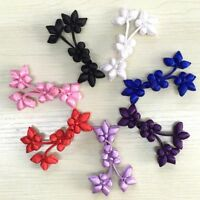 Chinese Knot Gardenia Flower Fasteners Women Cheongsam Tang Suit Sewing Buttons